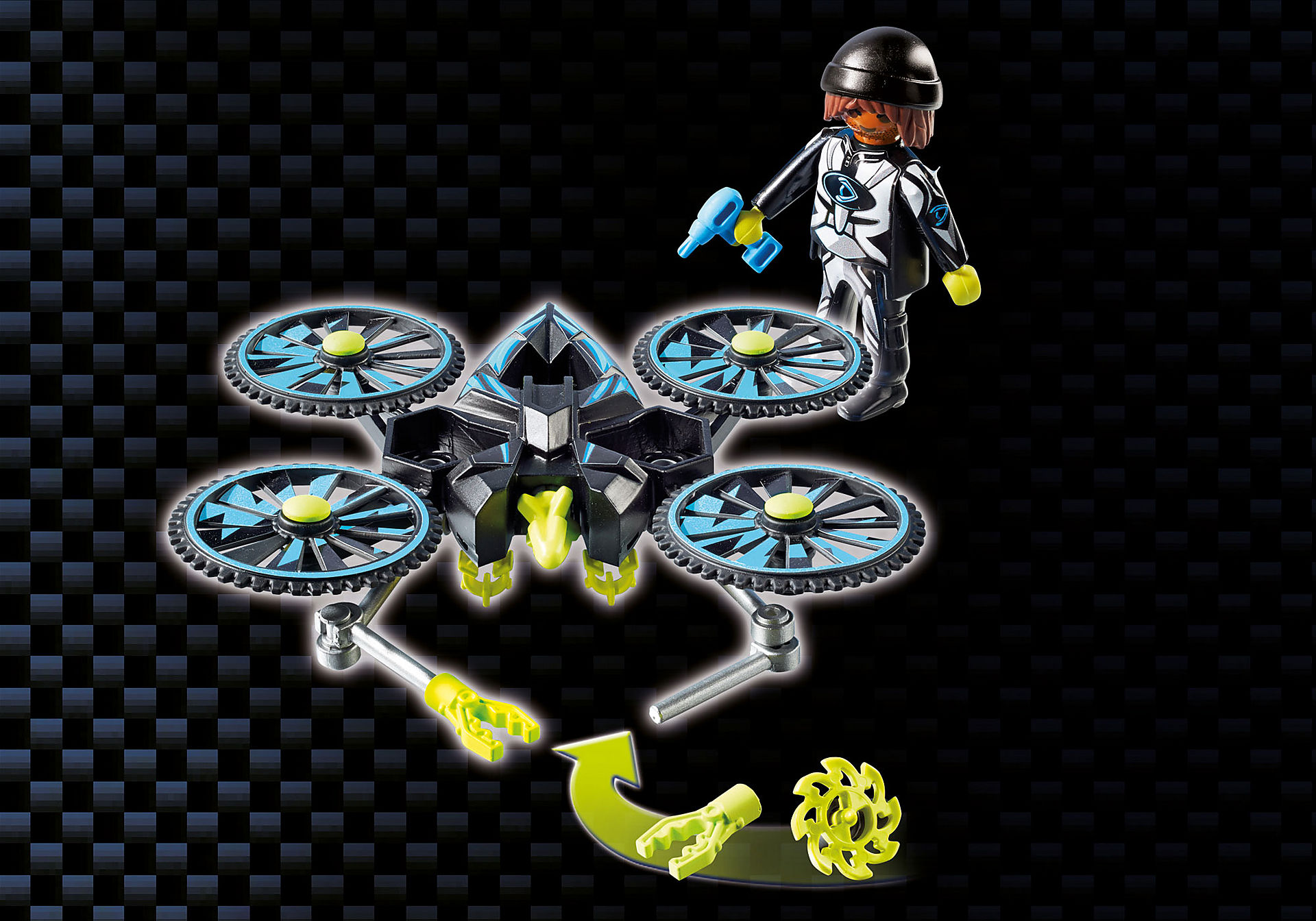 http://media.playmobil.com/i/playmobil/9250_product_extra5/Dr. Drone's Command Center