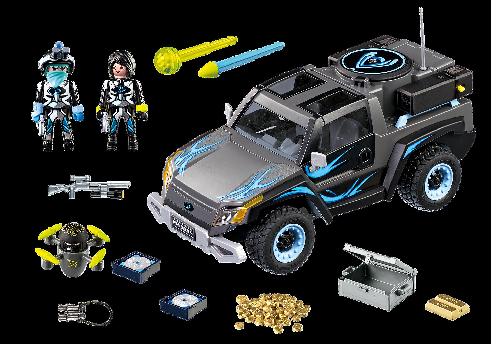http://media.playmobil.com/i/playmobil/9254_product_box_back/Όχημα Pickup του Dr. Drone