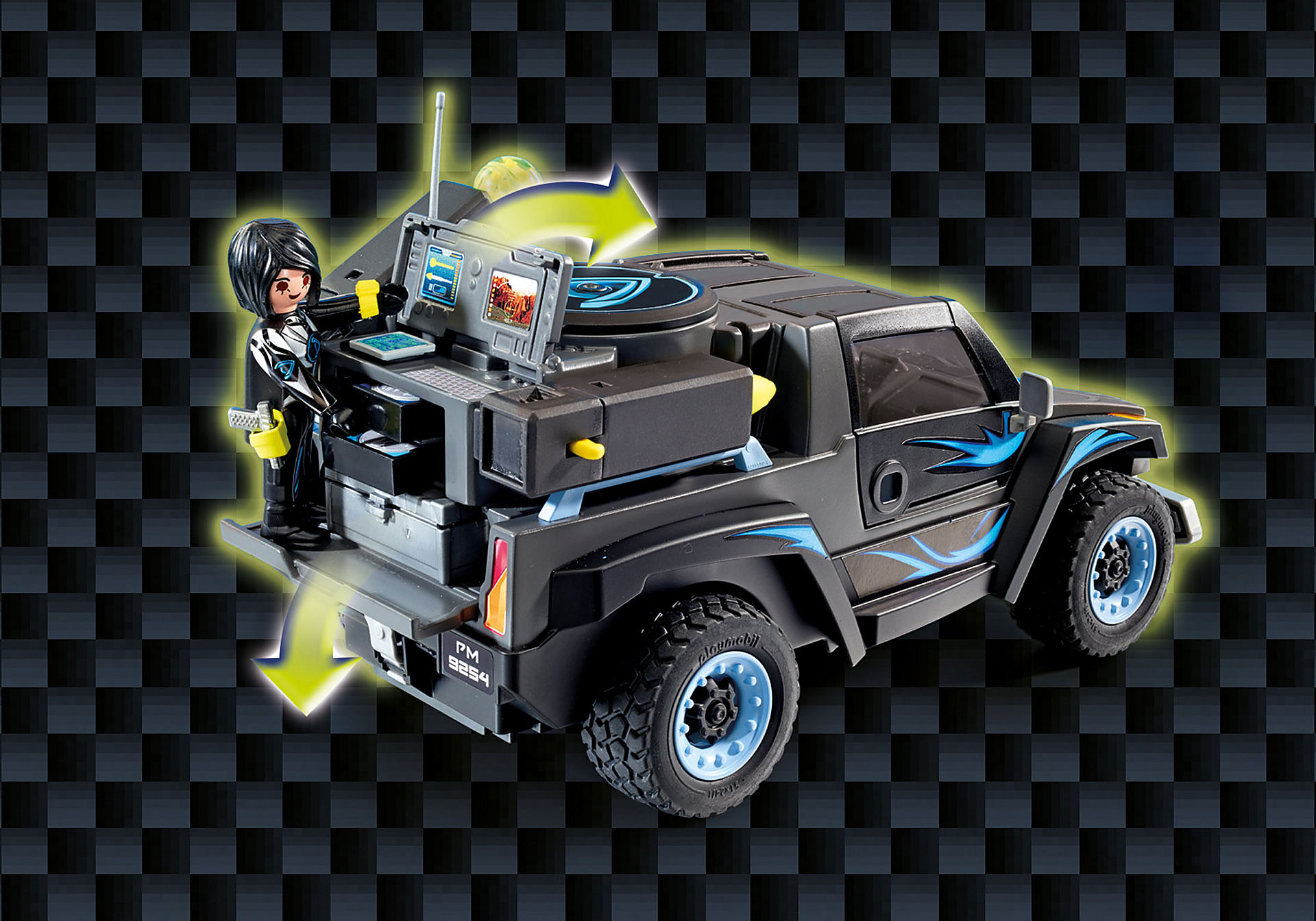 http://media.playmobil.com/i/playmobil/9254_product_extra5/Όχημα Pickup του Dr. Drone