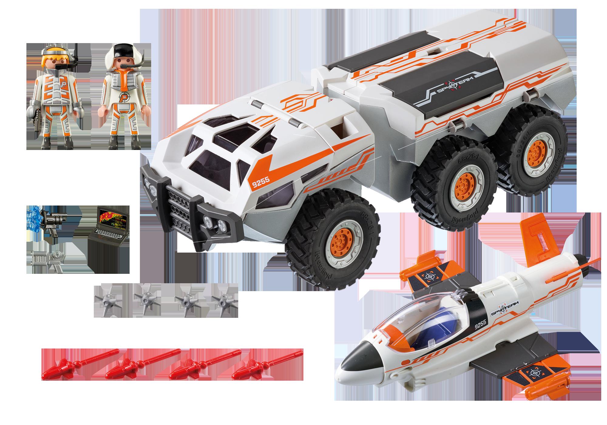 http://media.playmobil.com/i/playmobil/9255_product_box_back/Camion et navette de la Spy Team