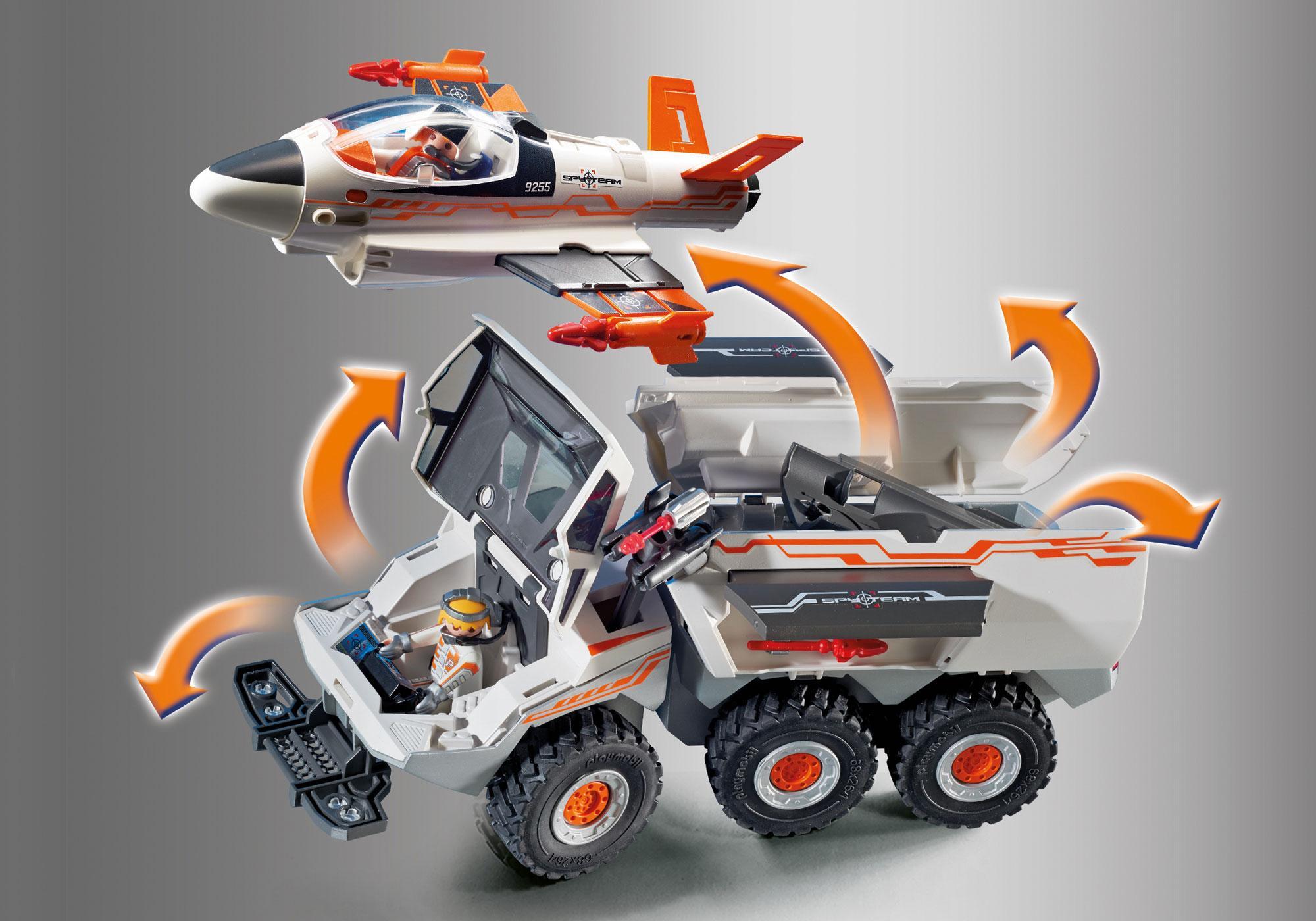 http://media.playmobil.com/i/playmobil/9255_product_extra4/Camion et navette de la Spy Team