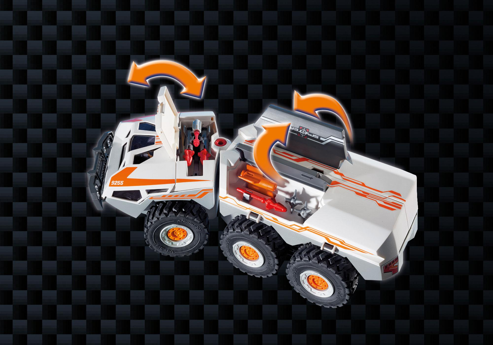 http://media.playmobil.com/i/playmobil/9255_product_extra5/Camion et navette de la Spy Team