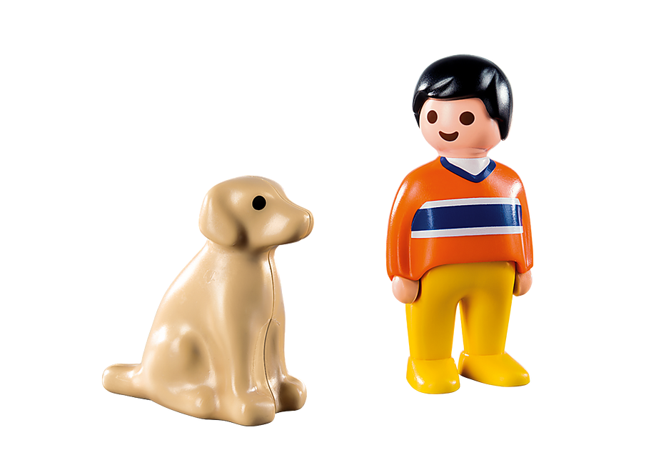 9256 Man with Dog detail image 4