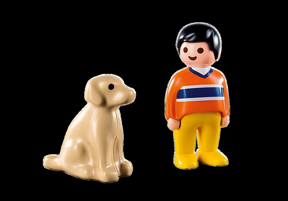 9256 Mann mit Hund detail image 4