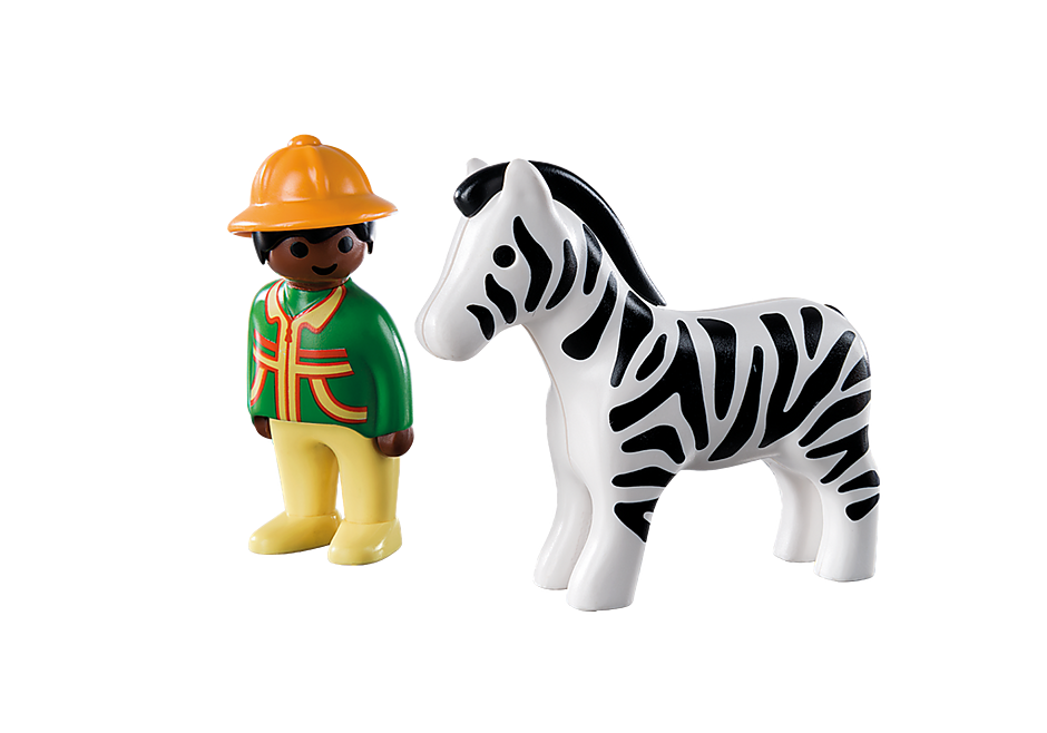 http://media.playmobil.com/i/playmobil/9257_product_box_back/1.2.3 Verzorger met zebra