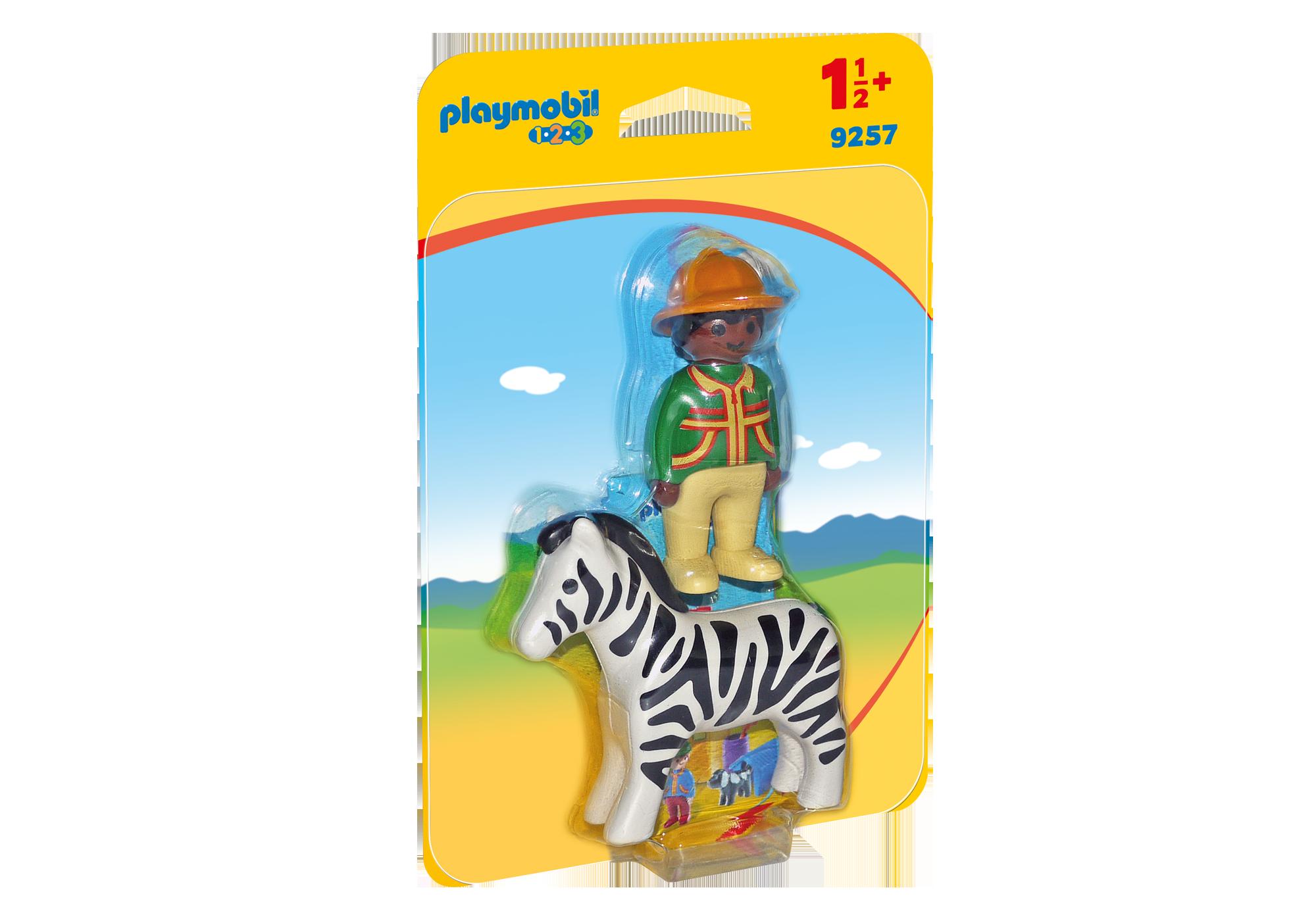 http://media.playmobil.com/i/playmobil/9257_product_box_front/1.2.3 Verzorger met zebra