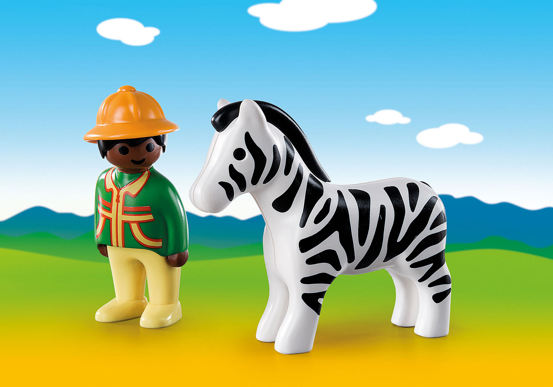 http://media.playmobil.com/i/playmobil/9257_product_detail/1.2.3 Verzorger met zebra