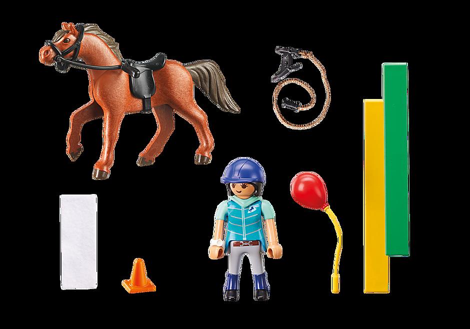 9259 Ecuyère avec cheval  detail image 4