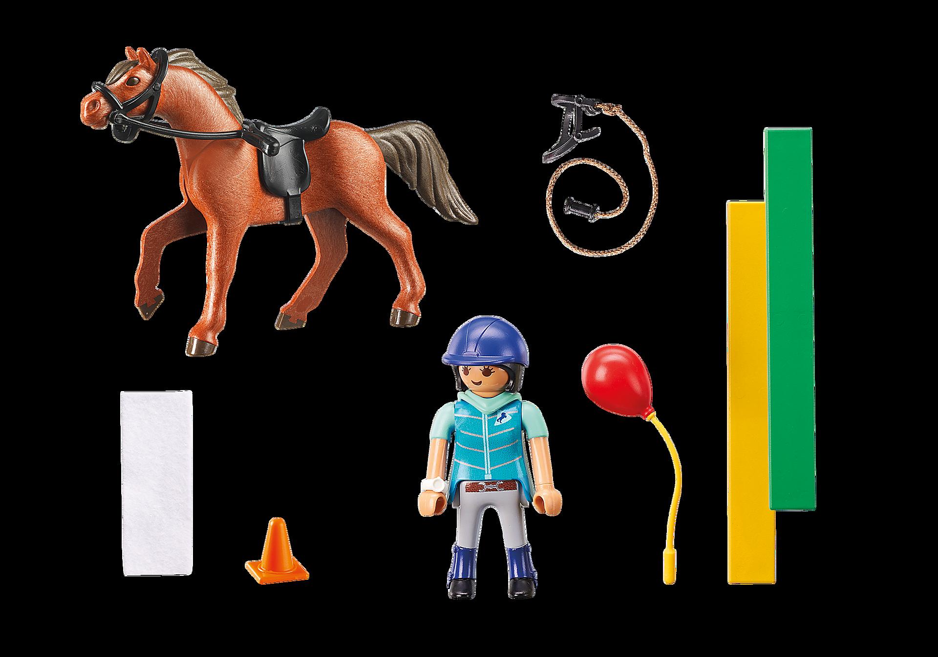 9259 Ecuyère avec cheval  zoom image4