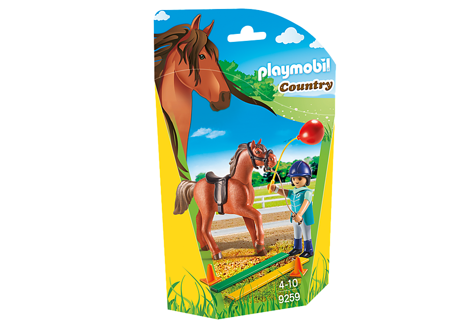 9259 Ecuyère avec cheval  detail image 3