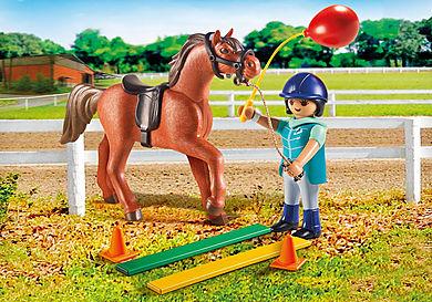 9259 Ecuyère avec cheval