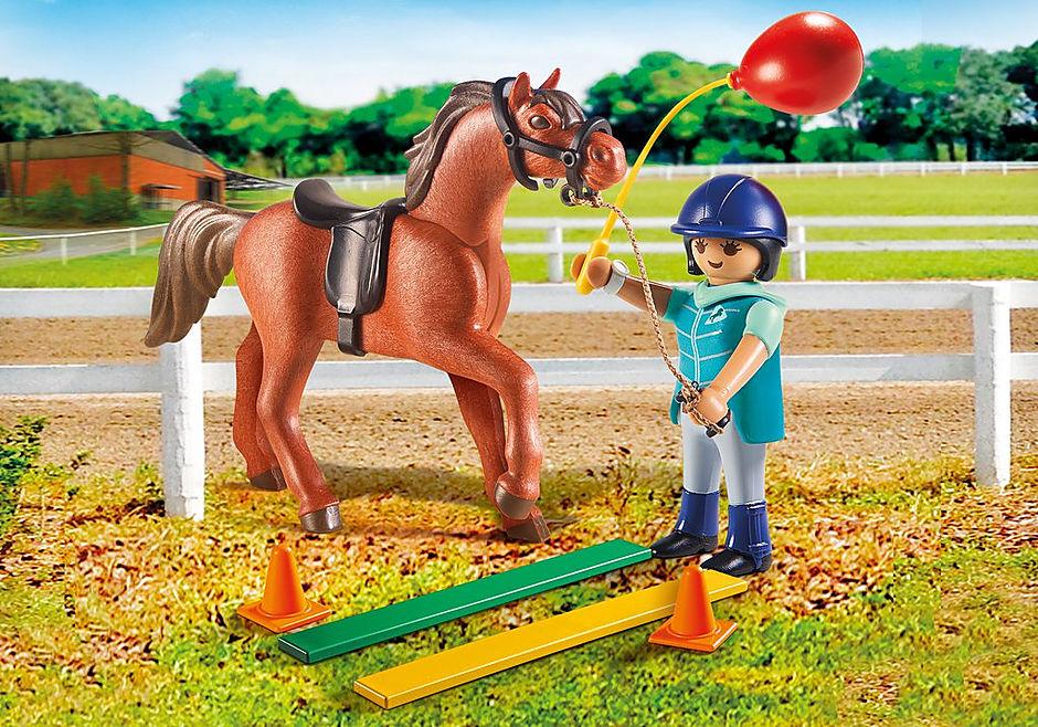 9259 Ecuyère avec cheval  detail image 1