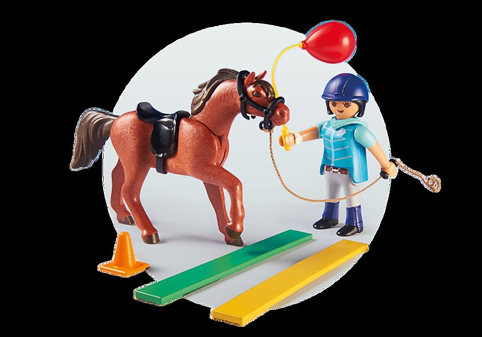 9259 Ecuyère avec cheval  detail image 5