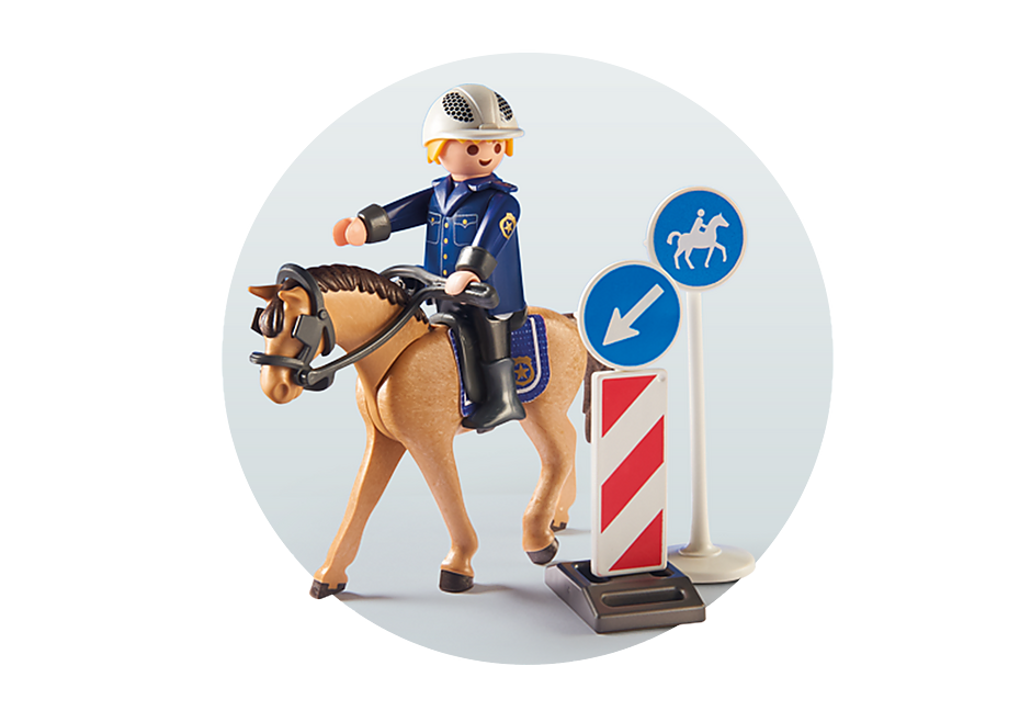 9260 Policier avec cheval  detail image 5