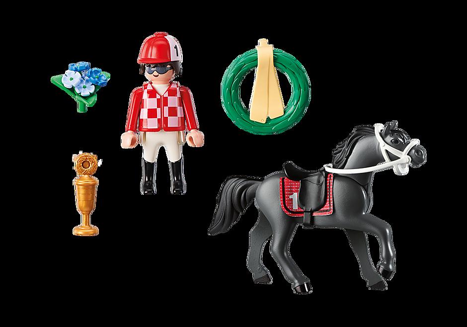 9261 Jockey avec cheval de course detail image 4