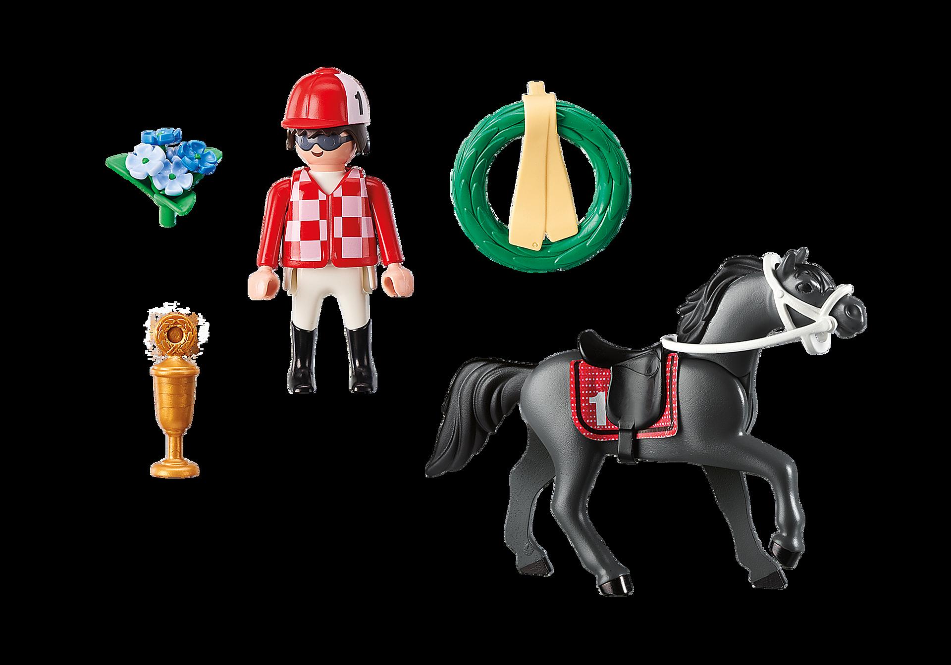 9261 Jockey avec cheval de course zoom image4