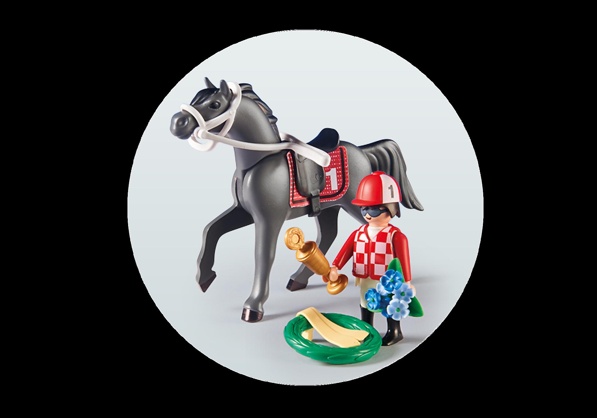 9261 Jockey avec cheval de course zoom image5