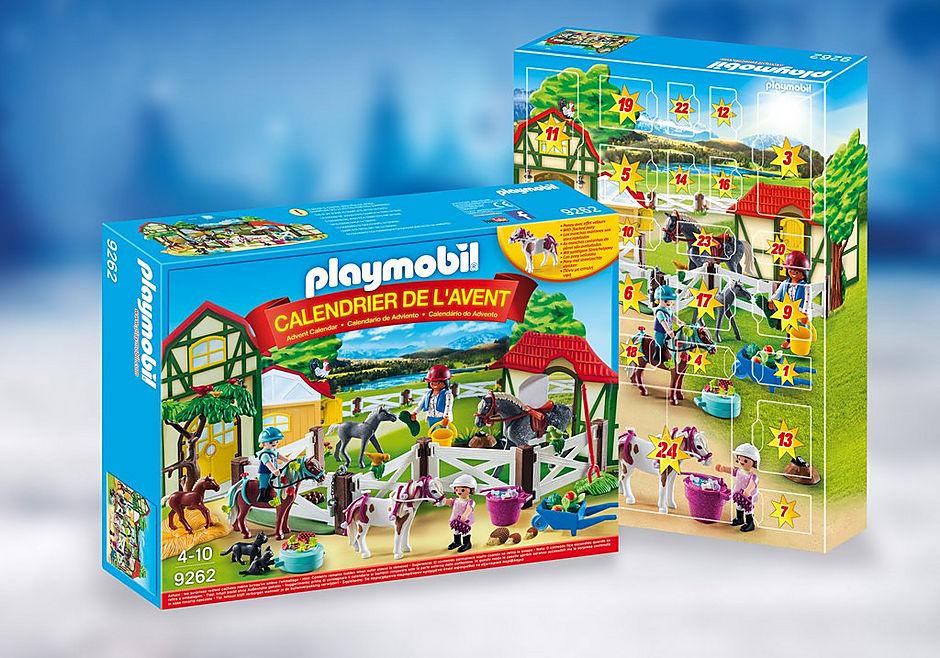 Calendrier L Avent Playmobil.Calendrier De L Avent Centre Equestre 9262 Playmobil