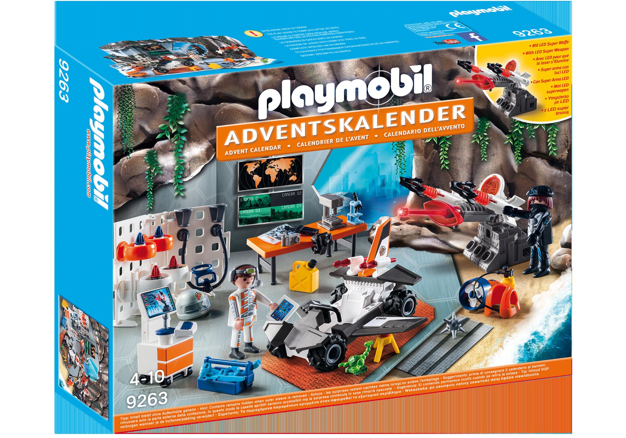 """http://media.playmobil.com/i/playmobil/9263_product_box_front/Adventskalender """"Spy Team Werkstatt"""""""