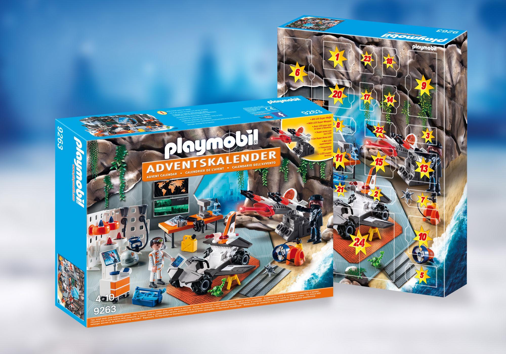 """http://media.playmobil.com/i/playmobil/9263_product_detail/Adventskalender """"Spy Team Werkstatt"""""""
