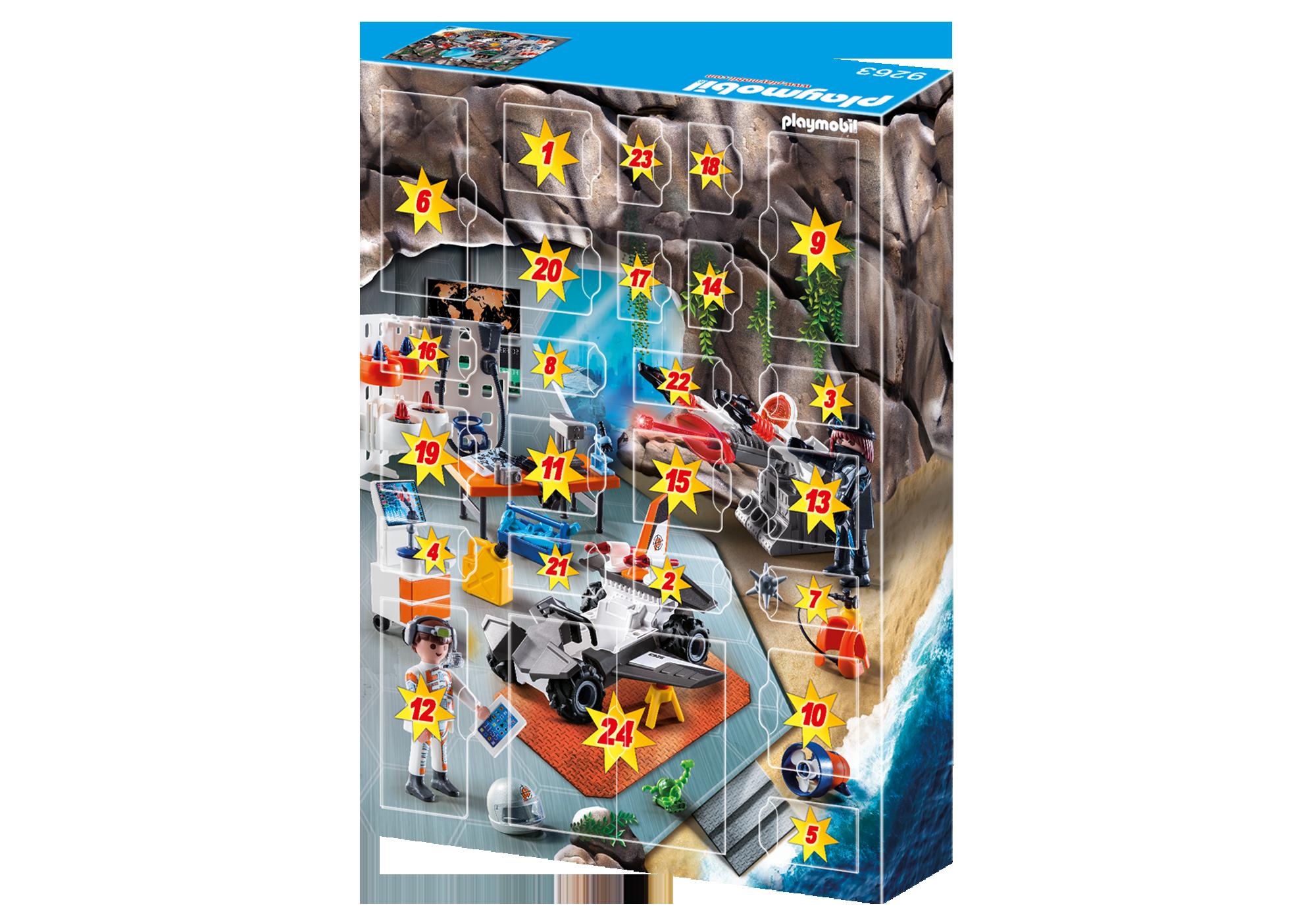 """http://media.playmobil.com/i/playmobil/9263_product_extra2/Adventskalender """"Spy Team Werkstatt"""""""