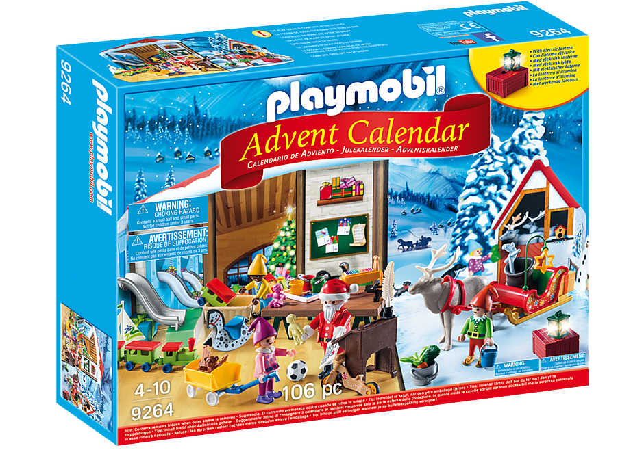 Calendario 2106.Advent Calendar Santa S Workshop 9264 Playmobil