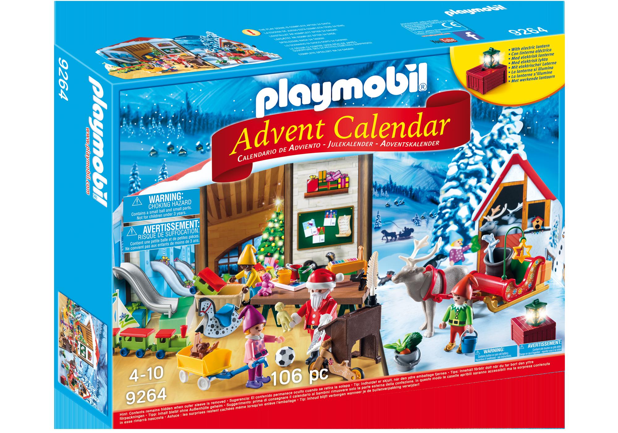 """http://media.playmobil.com/i/playmobil/9264_product_box_front/Kalendarz adwentowy """"Pracownia Świętego Mikołaja"""""""