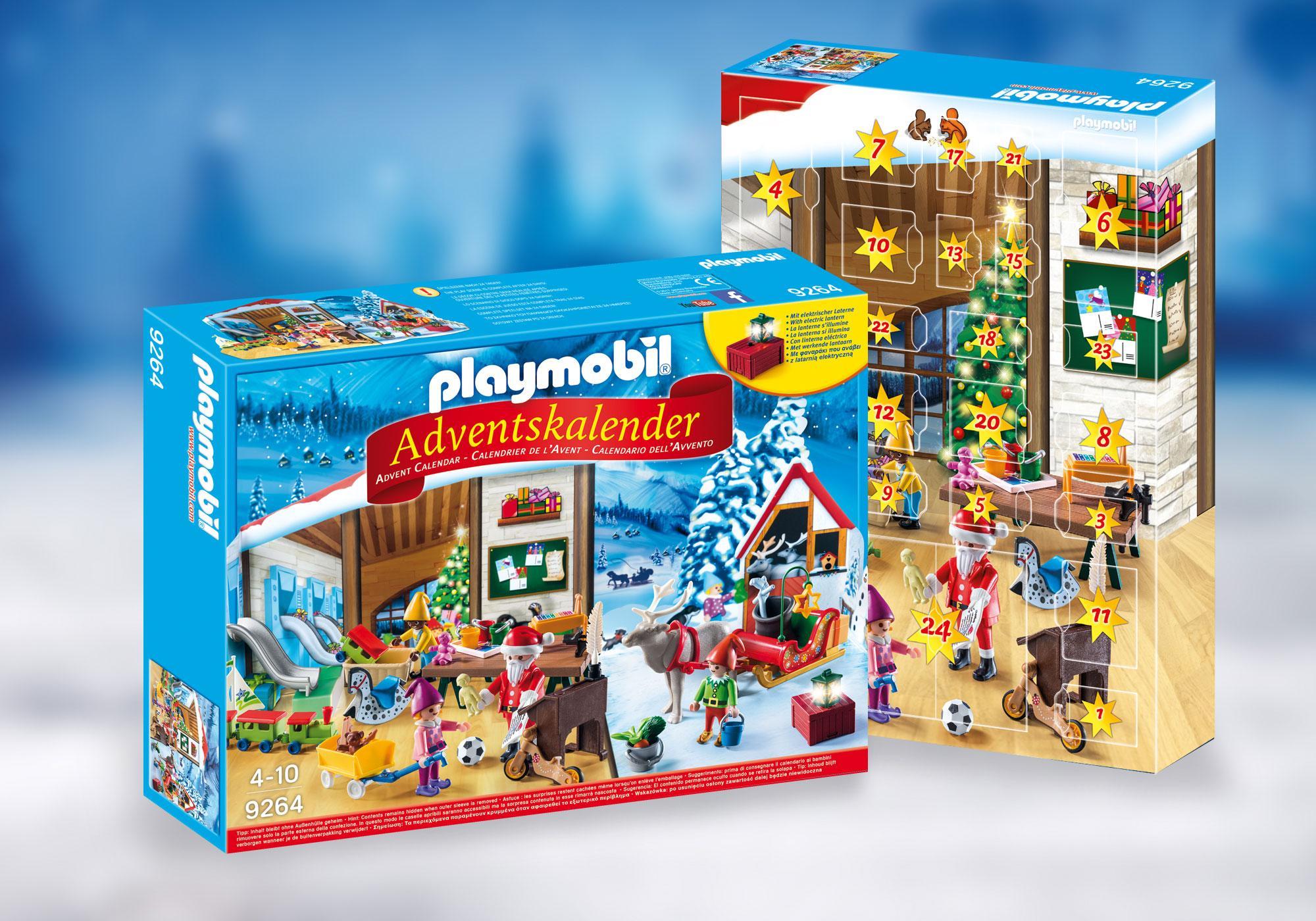 """http://media.playmobil.com/i/playmobil/9264_product_detail/Calendario de Adviento """"Taller de Navidad"""""""
