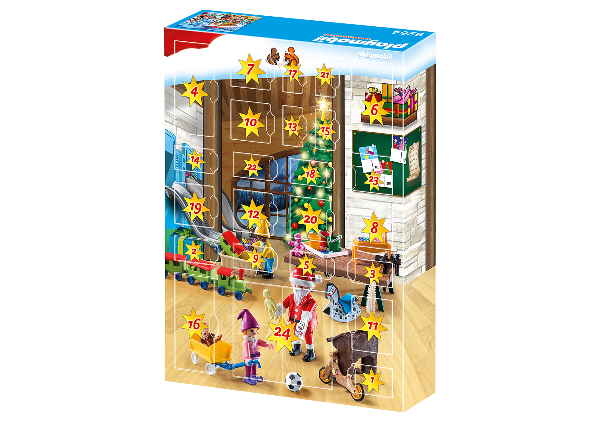 http://media.playmobil.com/i/playmobil/9264_product_extra2/Calendário do Advento 'Oficina de Natal'