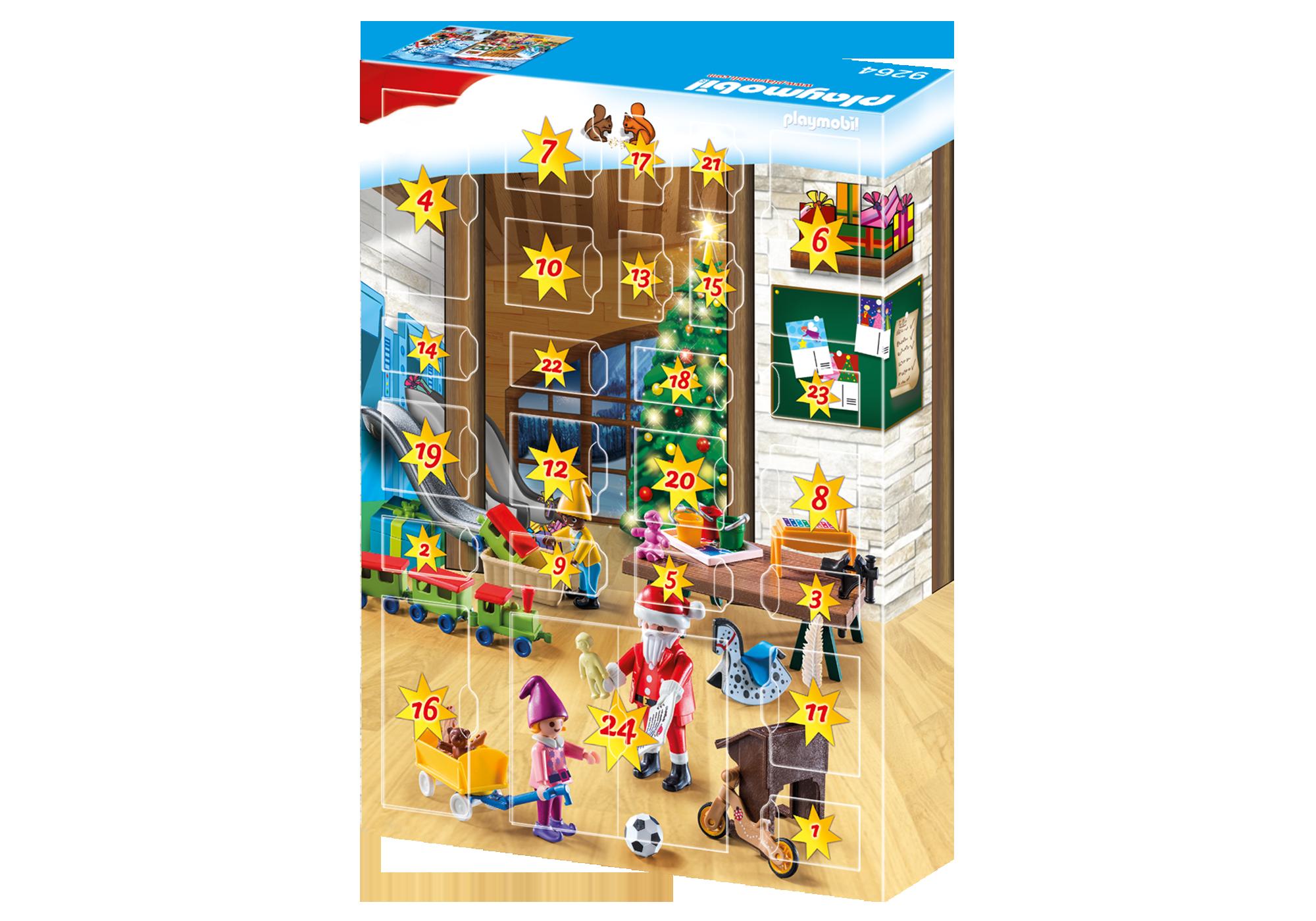 http://media.playmobil.com/i/playmobil/9264_product_extra2/Calendário do Advento 'Oficina de Natal'