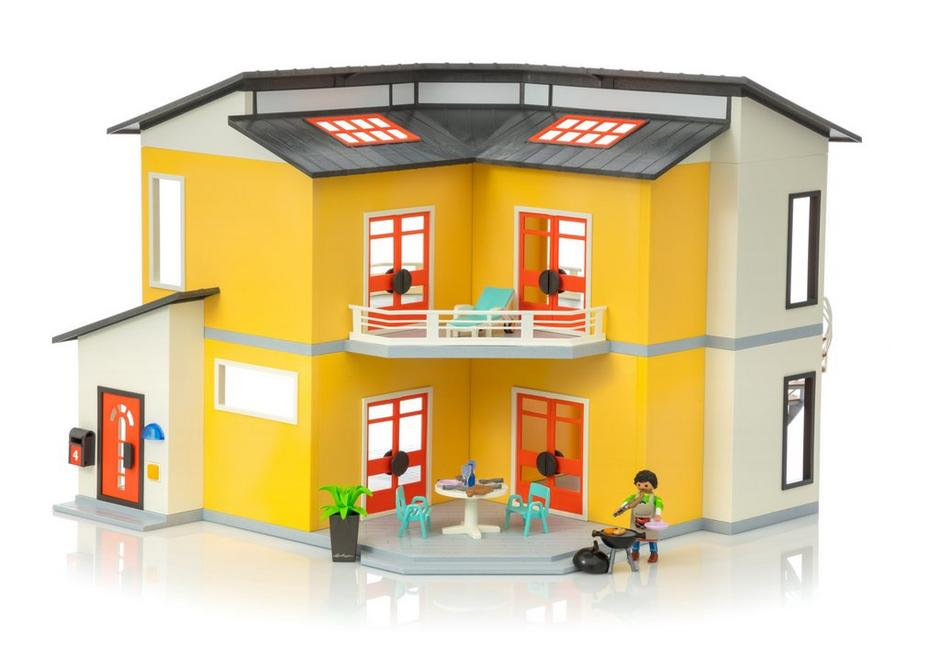 Beautiful playmobil modernes villa pictures amazing for Casa moderna playmobil 9266