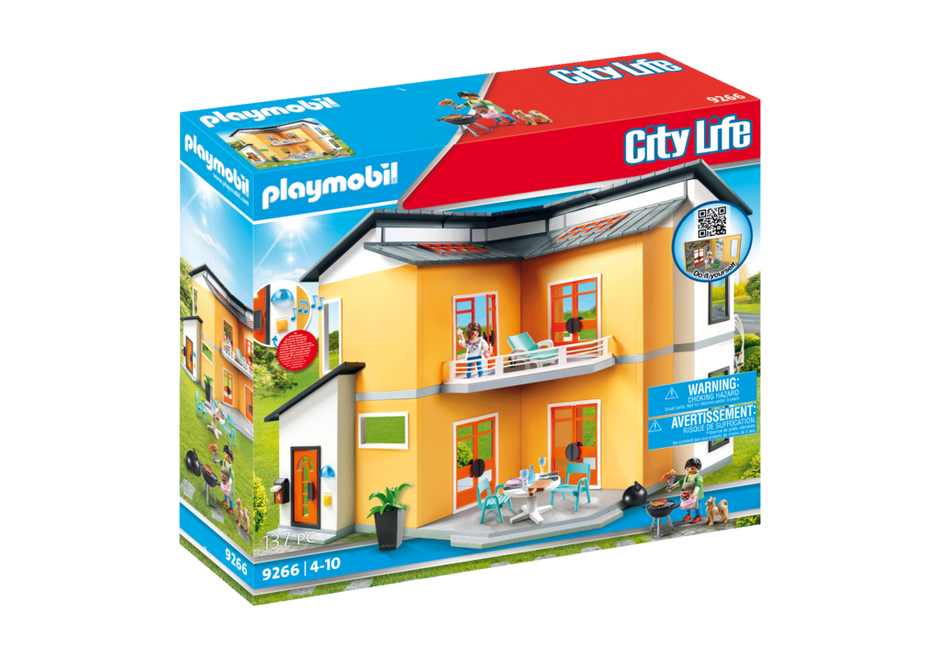 Maison moderne 9266 playmobil france for Agrandissement maison moderne playmobil