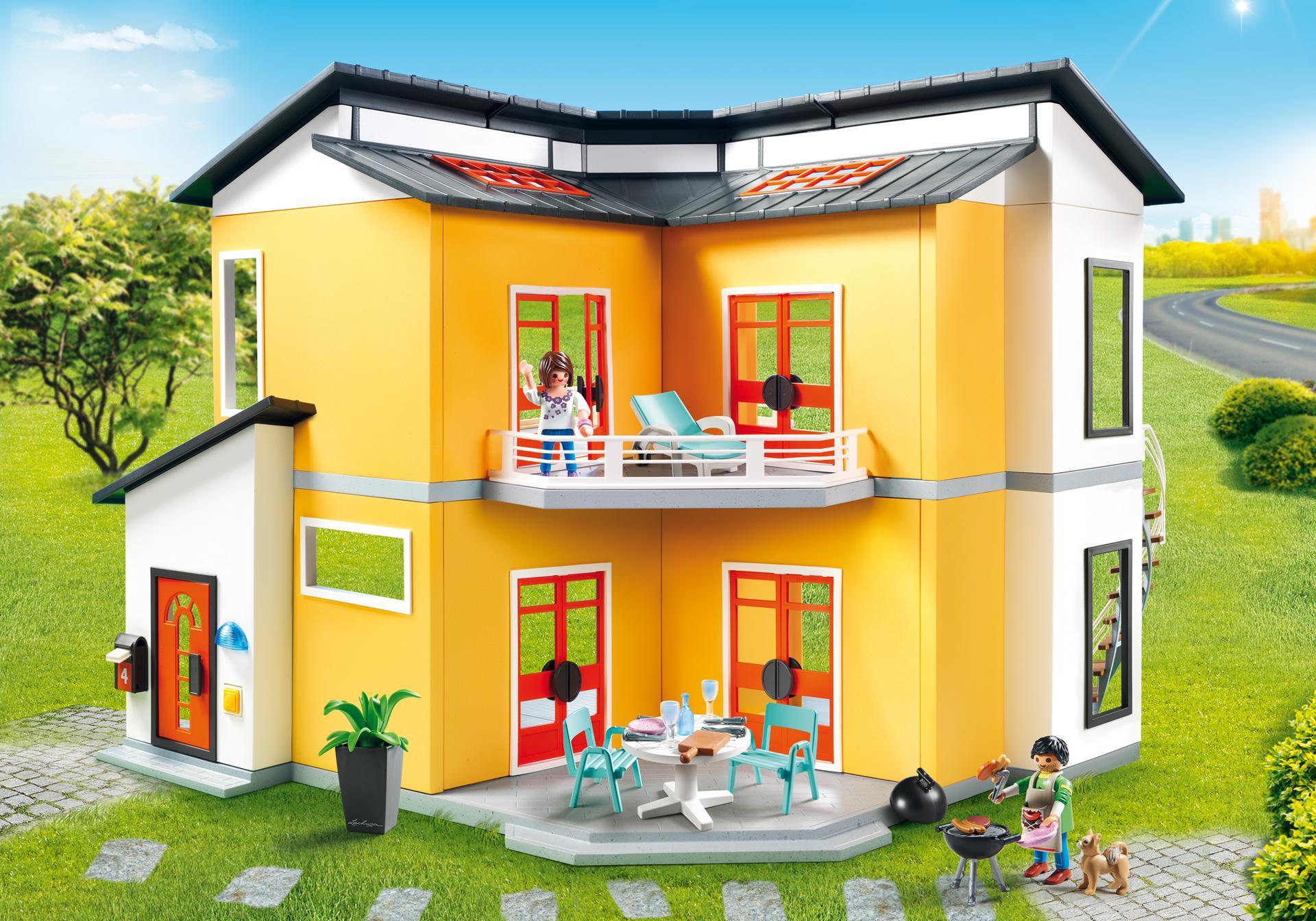 modern house 9266 playmobil. Black Bedroom Furniture Sets. Home Design Ideas