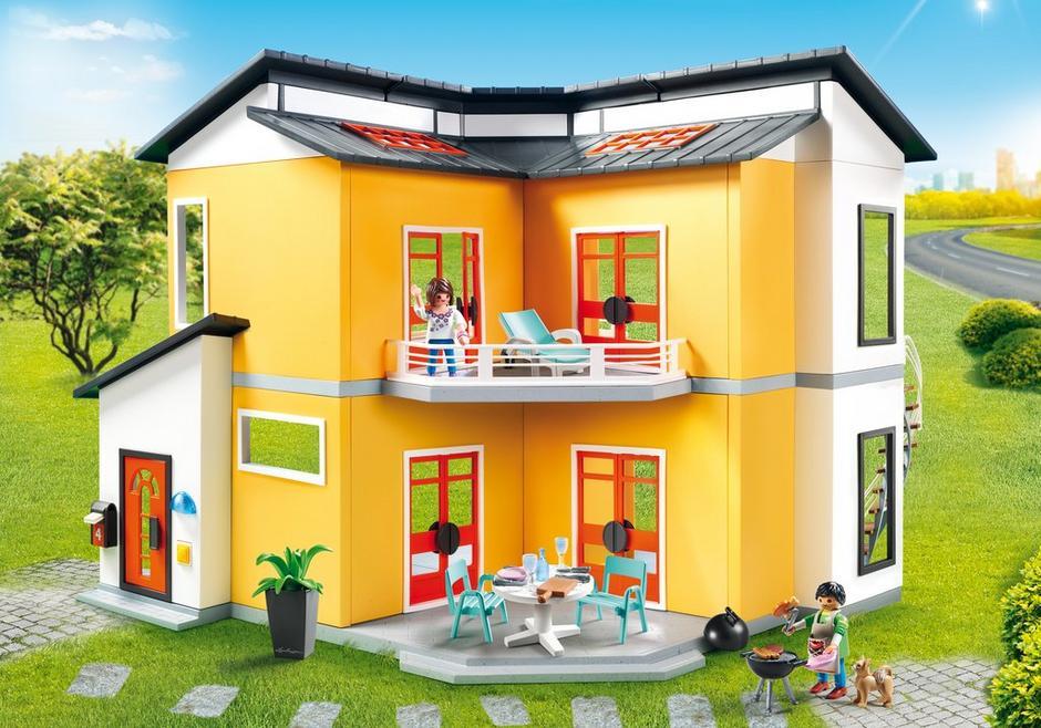 Maison moderne 9266 playmobil france for Agrandissement maison moderne playmobil