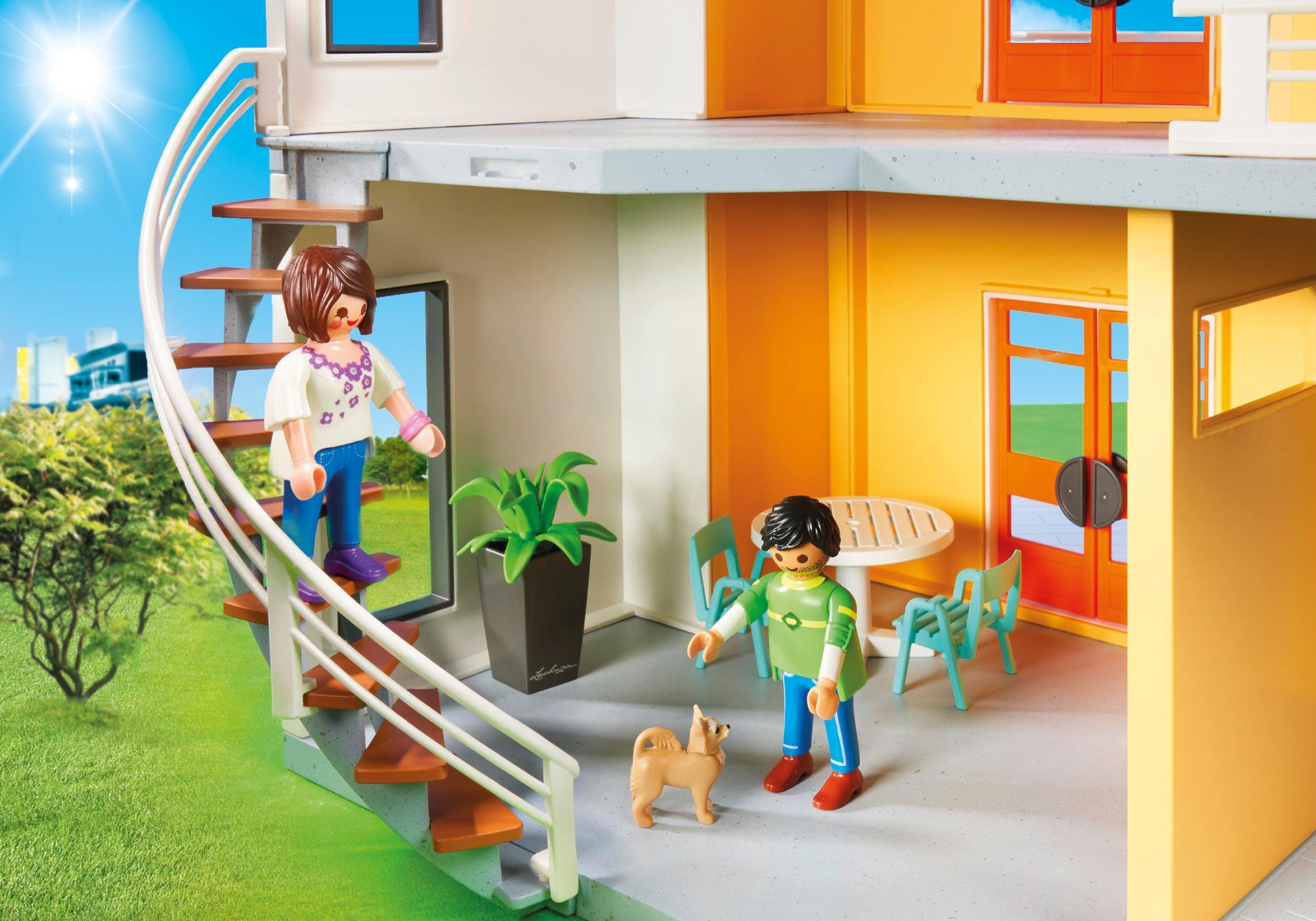 Maison moderne 9266 playmobil belgi for Maison moderne playmobil 2018