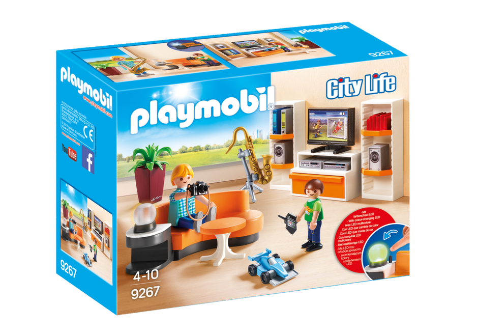 living room 9267 playmobil. Black Bedroom Furniture Sets. Home Design Ideas