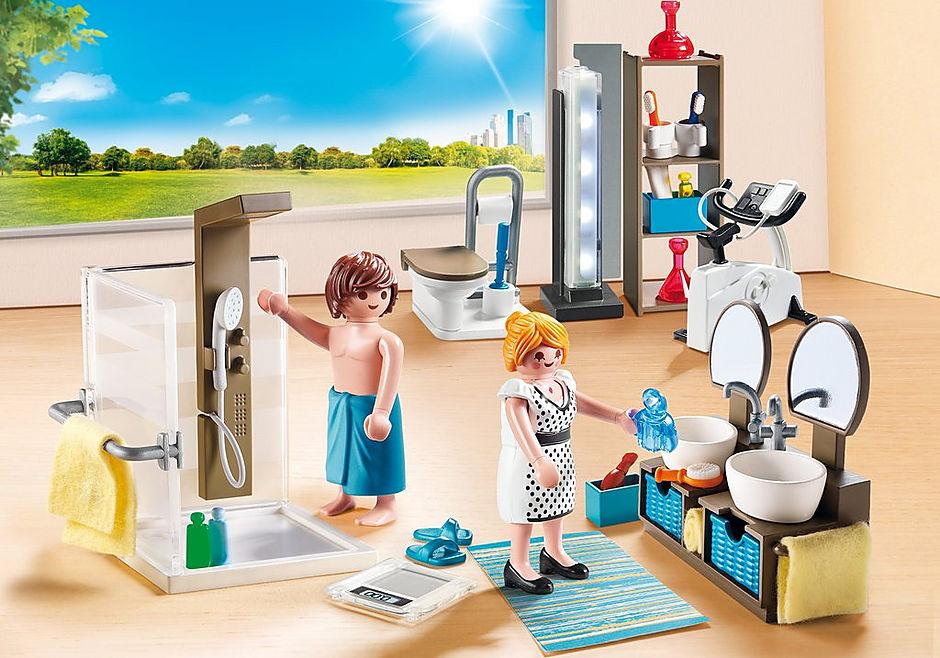 Salle de bain avec douche à l\'italienne - 9268 - PLAYMOBIL ...