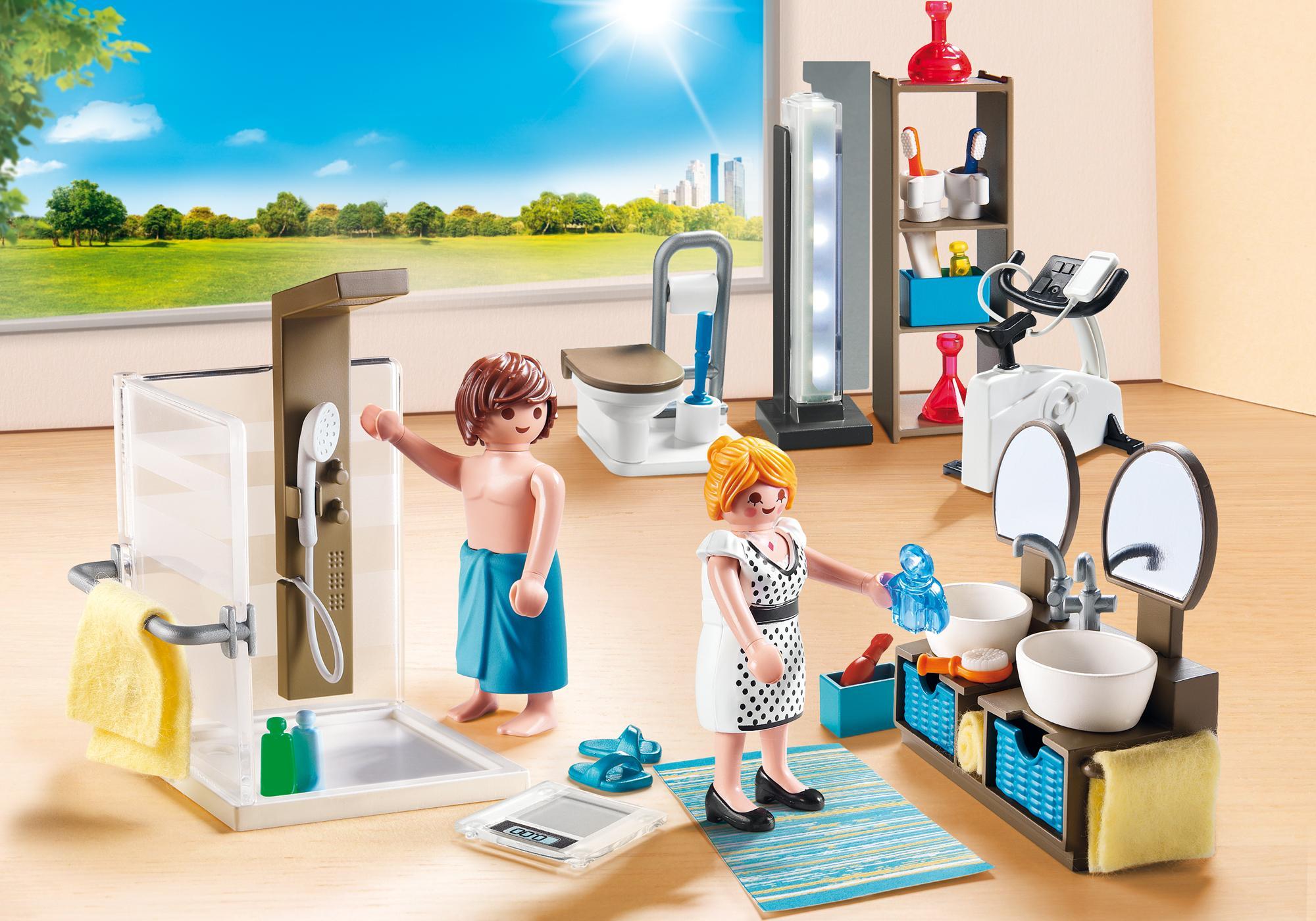 Salle De Bain Playmobil ~ salle de bain avec douche l italienne 9268 playmobil belgi