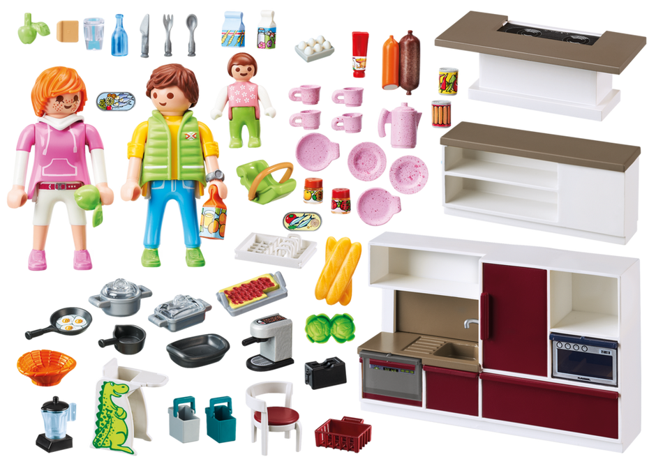 Gro e familienk che 9269 playmobil deutschland for Cuisine 5582 playmobil