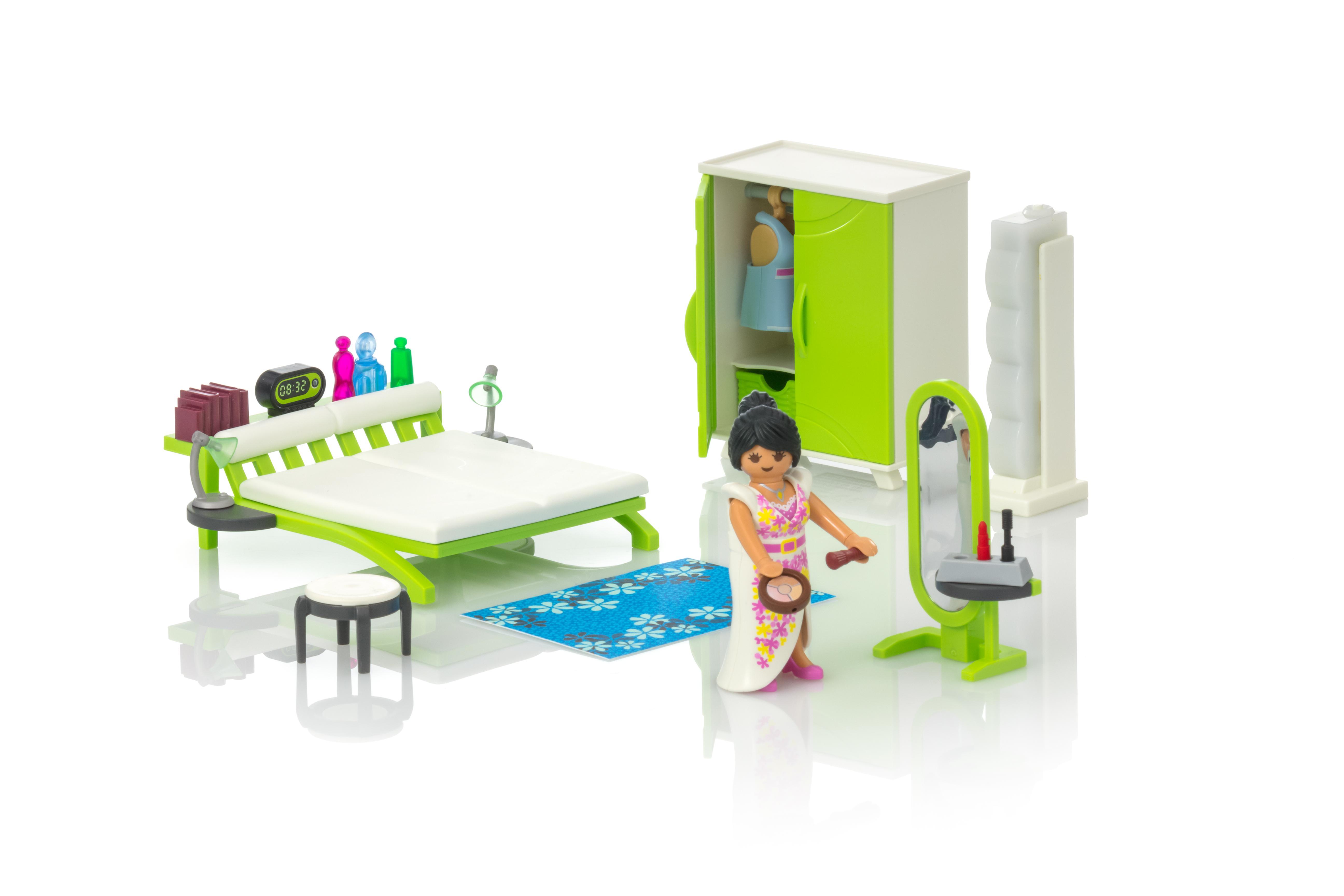 Playmobil Dollhouse Slaapkamer : Slaapkamer met make up tafel playmobil belgië