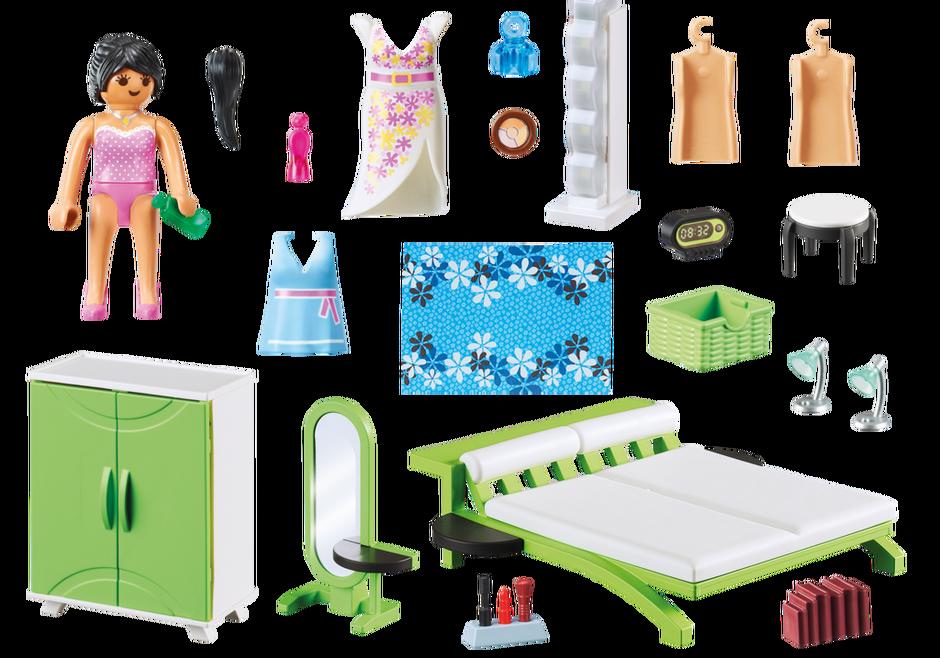 Slaapkamer met make-up tafel - 9271 - PLAYMOBIL® België