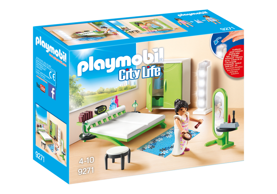 bedroom 9271 playmobil. Black Bedroom Furniture Sets. Home Design Ideas