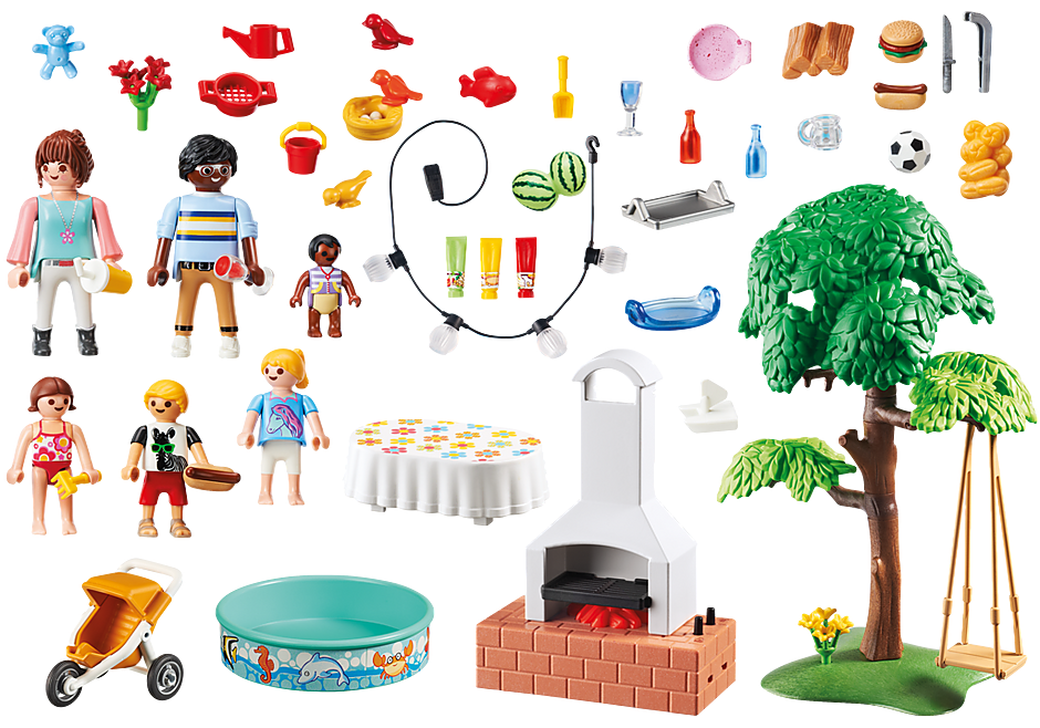 9272 Famille et barbecue estival detail image 5