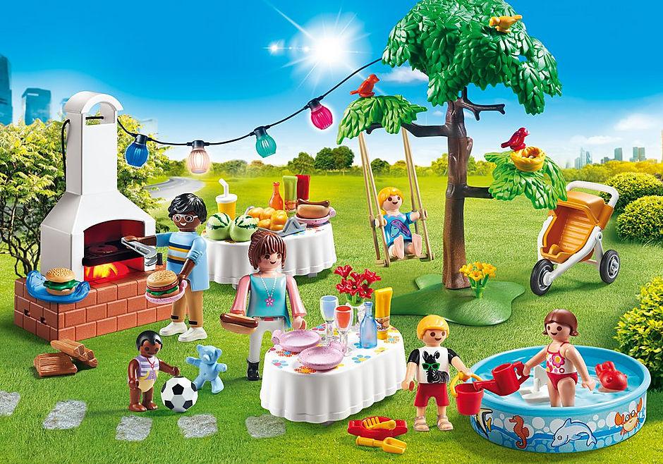 9272 Famille et barbecue estival detail image 1