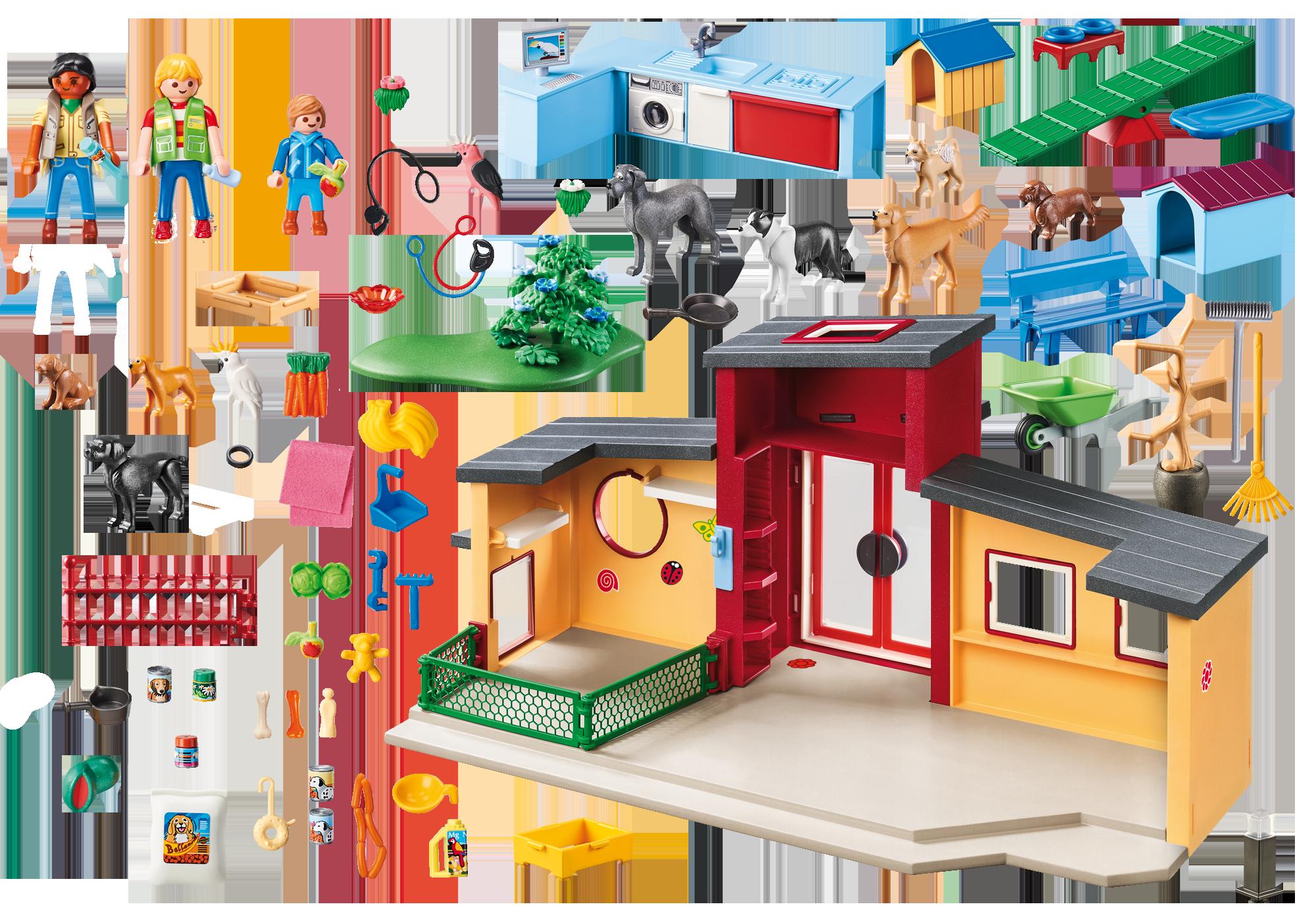 "http://media.playmobil.com/i/playmobil/9275_product_box_back/Dyrehotel ""Lille pote"""