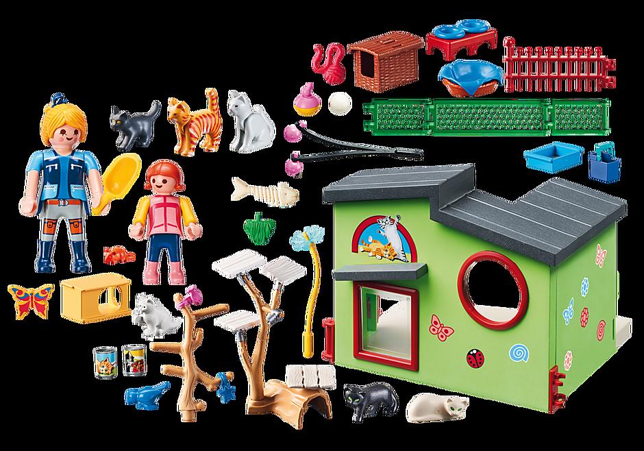 http://media.playmobil.com/i/playmobil/9276_product_box_back/Refugio para Gatos