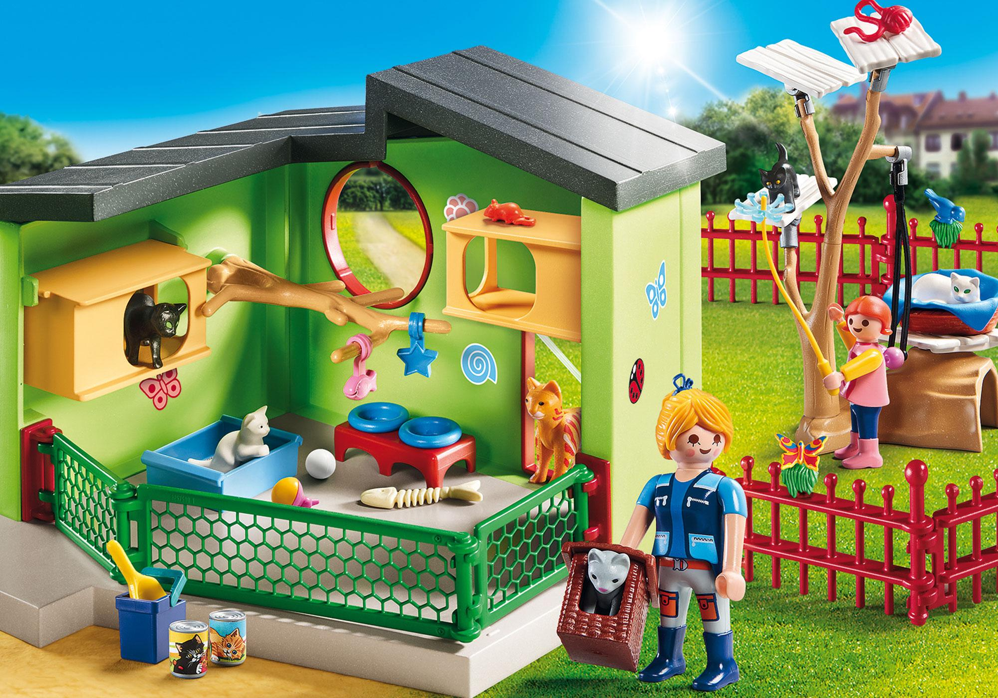http://media.playmobil.com/i/playmobil/9276_product_detail/Refugio para Gatos