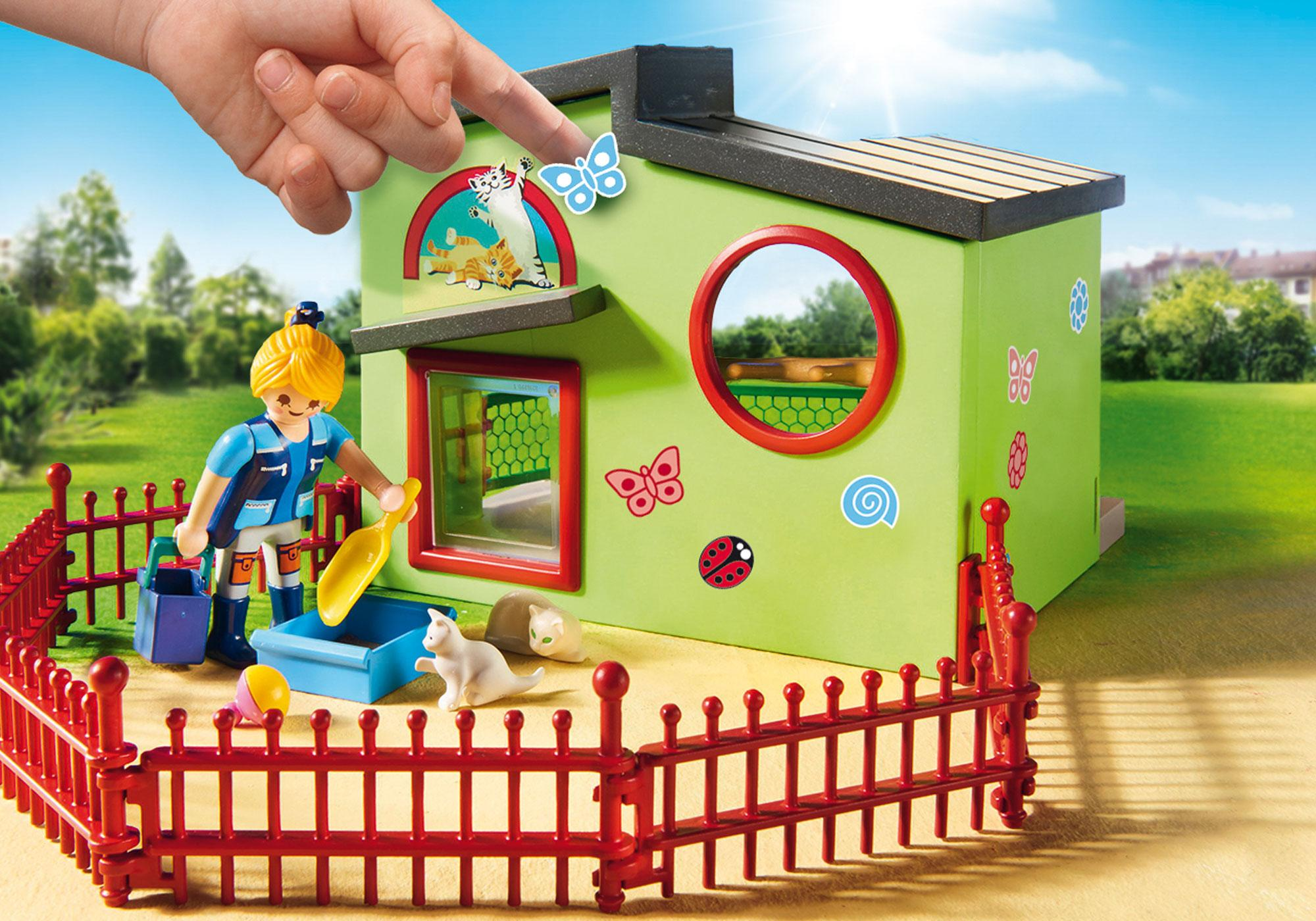 http://media.playmobil.com/i/playmobil/9276_product_extra1/Refugio para Gatos