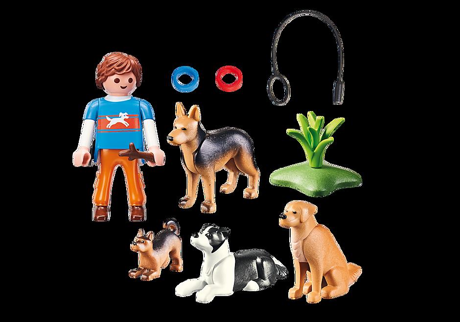 9279 Entraineur et chiens  detail image 4