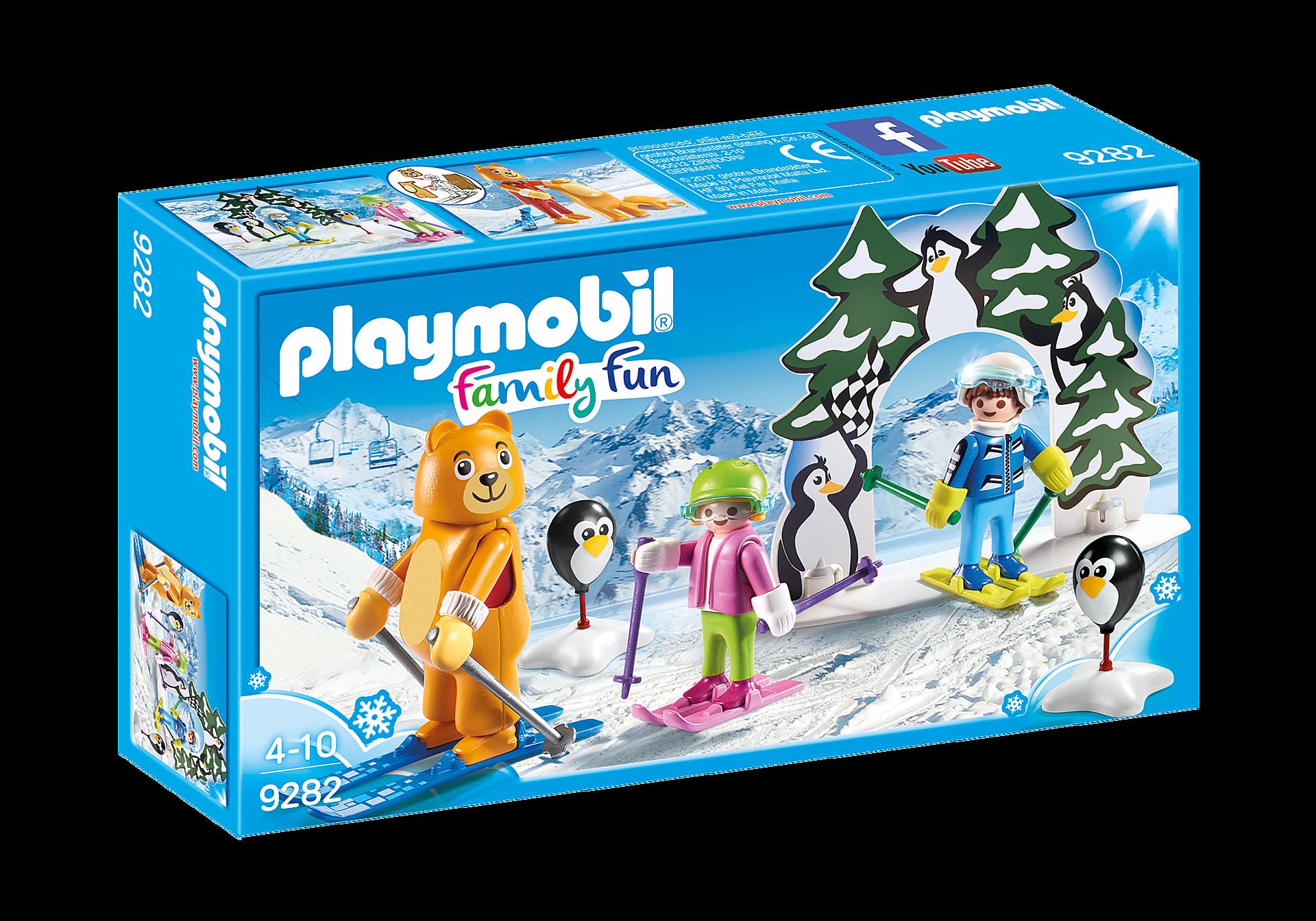 9282 Moniteur de ski avec enfants  zoom image3
